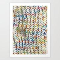knit Art Prints featuring Knit Pattern  by Manuela Mishkova