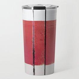 White Red White Travel Mug