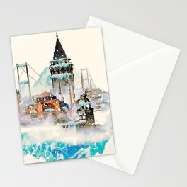 Istanbul landscape Stationery Cards
