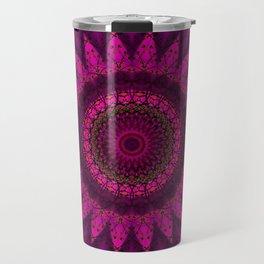 Stain glass Mandala Travel Mug