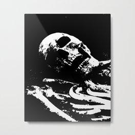 Archaeological excavations of Skeleton Metal Print