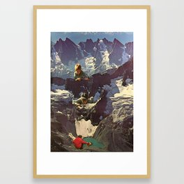 Mountain Kid Pranksters Framed Art Print