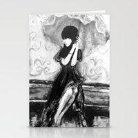 umbrella Stationery Cards featuring Umbrella by Alyssa Leigh