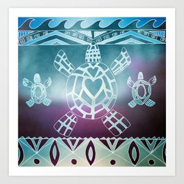 Tribal Sea Turtle Art Print