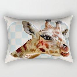 Hearty Giraffes Rectangular Pillow