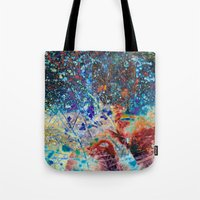 splatter Tote Bags featuring Splatter by Stephen Linhart