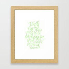 Psalm 143:10 Framed Art Print
