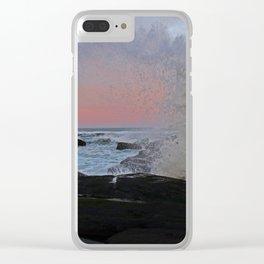 Strawberry Sunrise Splash Clear iPhone Case