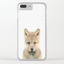 Baby Wolf Clear iPhone Case