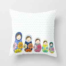 More Matryoshkas Throw Pillow