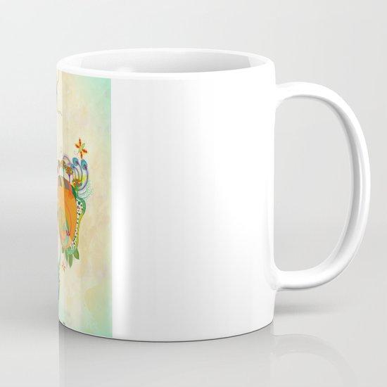 The Peacock Dance Coffee Mug