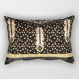 Golden Eagle Feather Rectangular Pillow