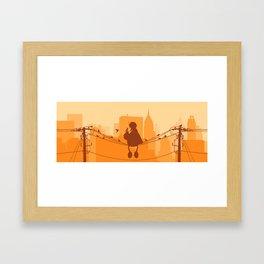 Too Big For The City Framed Art Print