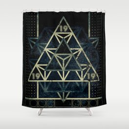 Sacred Geometry for your daily life - METATRON MATRIX Shower Curtain