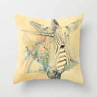 paradise Throw Pillows featuring Paradise by dogooder