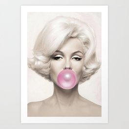 Marylin Monroe Art Print Poster01 Art Print