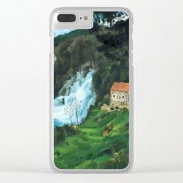 Waterfall in Krka Clear iPhone Case
