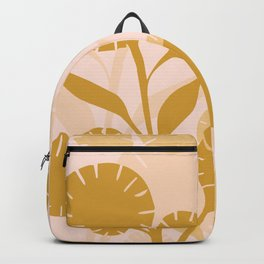 Wildflowers Large- Pink and Gold Backpack