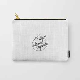 eat, sleep, travel, repeat   [black] Carry-All Pouch