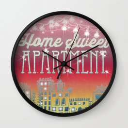 Home Sweet Apartment - Sunset Version Wall Clock