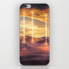 Escape through the light iPhone Skin