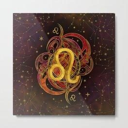 Leo Zodiac Fire element Metal Print