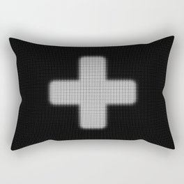 Halftone Plus Black Rectangular Pillow