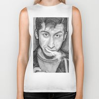 alex turner Biker Tanks featuring Alex Turner Drawing  by Not Too Shabby