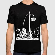 Space shuttle LARGE Mens Fitted Tee Black
