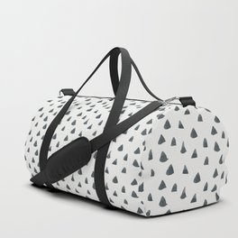 Hand painted black gray watercolor geometrical triangles Duffle Bag