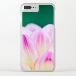 Dahlia Daydreams Clear iPhone Case