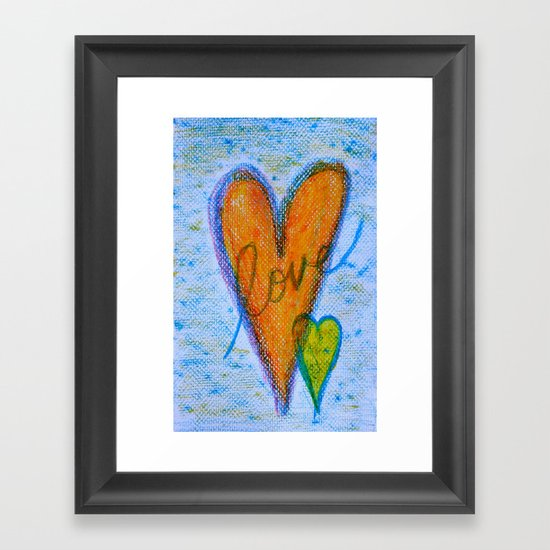 Crayon Love - Crayon Bomb Framed Art Print