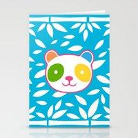 murakami Stationery Cards featuring Rainbow Panda by XOOXOO