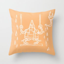 The mechanical Heart Throw Pillow
