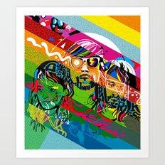 Tribute to Ed Banger Records Art Print