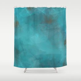 Turquoise Gems Shower Curtain