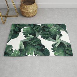Banana Leaves Pattern Green Rug