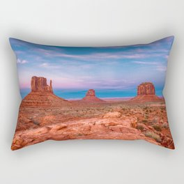 Westward Dreams - Sunset in Monument Valley Rectangular Pillow