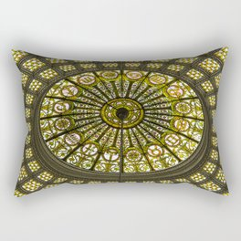 Tiffany Dome of the Chicago Cultural Center Rectangular Pillow