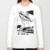 led zeppelin Long Sleeve T-shirts featuring Zeppelin by Saskia Juliette