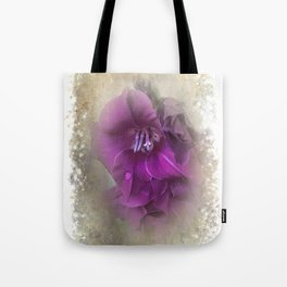 Purple Gladiolas Tote Bag