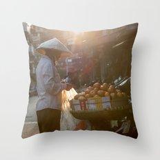 Vietnam Streets Throw Pillow