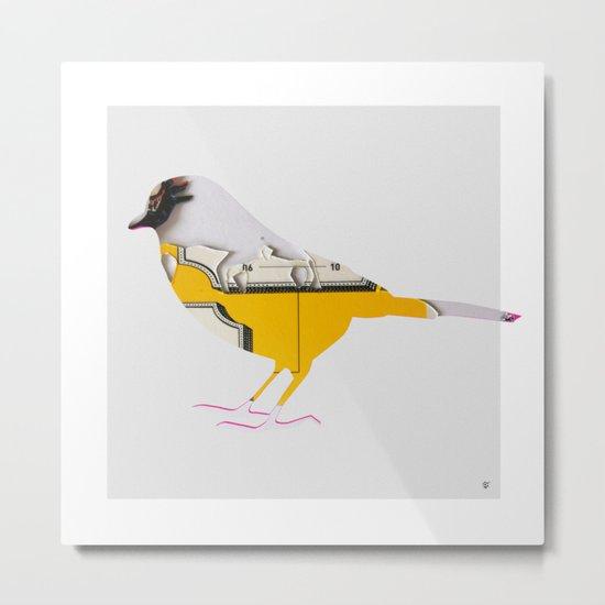 Tea Time Bird Metal Print