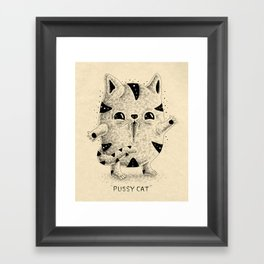 Pussy Cat Framed Art Print