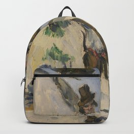 Paul Cezanne - Man with a Vest (L'Homme a la veste) Backpack