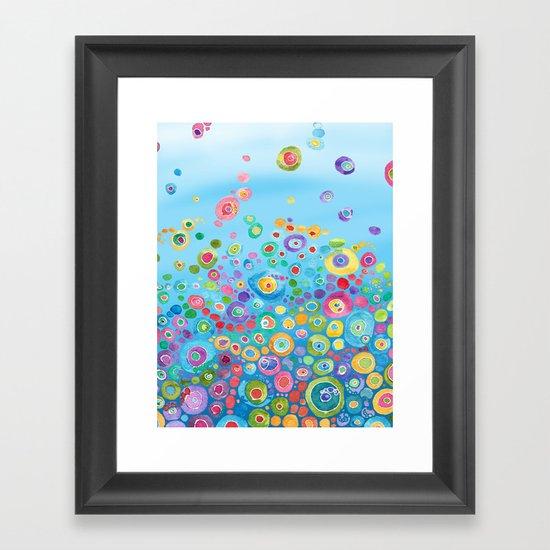 Inner Circle - Blue Framed Art Print