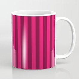 Raspberry Red Stripes Pattern Coffee Mug