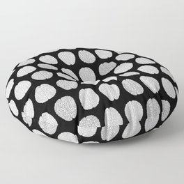 Black and Grey Brains Pattern Floor Pillow