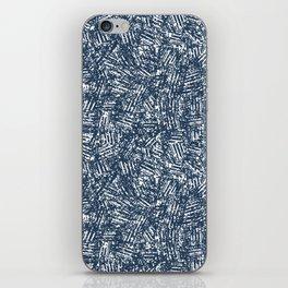 crisscross-blue iPhone Skin