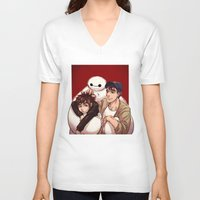 big hero 6 V-neck T-shirts featuring Big Hero 6  by Arashi.C
